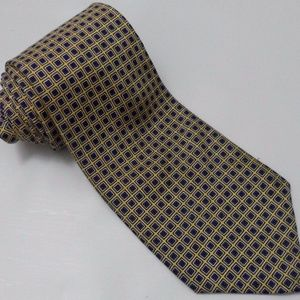 Men's RALPH LAUREN POLO Tie Gold Check Pattern